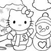 Hello Kitty u snegu