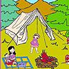 Lena na kampovanju