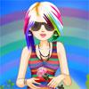 Devojka u duginim bojama