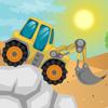 Vožnja bagera u pustinji