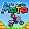 Super Mario on a motorcyc...